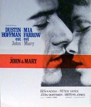 John and Mary poster Dustin Hoffman John