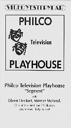 Philco Television Playhouse (January 27, 1952)