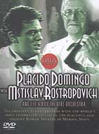 Placdio Domingo and Mstislav Rostropovich
