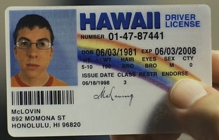superbad mclovin. McLovin#39;s License Gets