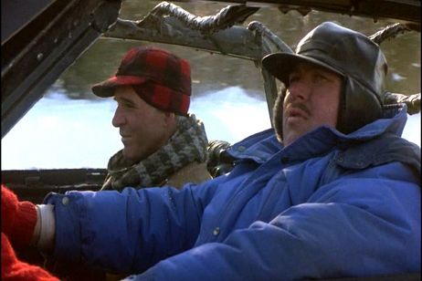 Del Griffith and Neal Page driving