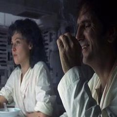 Sigourney Weaver (as Ripley) and Harry Dean Stanton (as Brett) in 'Alien'