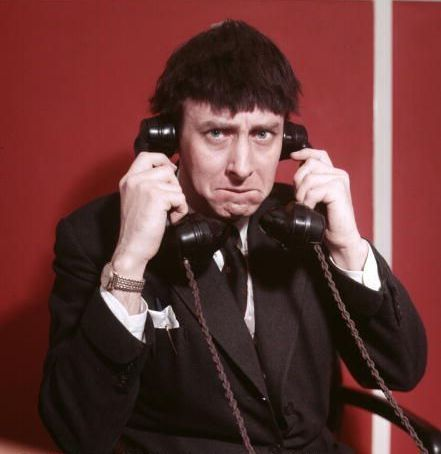 Spike Milligan in the phone