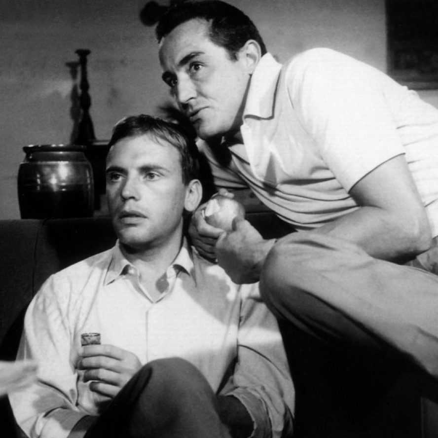 Jean-Louis Trintignant and Vittorio Gassman