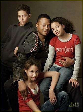 Terence HOward and his beautiful family
