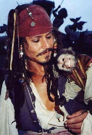 Captain Jack and Jack the monkey