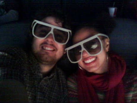 Me and my girlfriend at Avatar in IMAX 3D.
