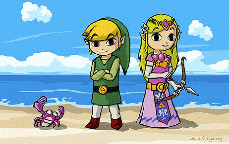 I am a big Zelda fan here is link from Link and Zelda from the wind waker