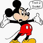 Mickey Mouse is pissed off after watching Troll 2.