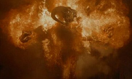 The Balrog from 'Lord of the Rings:  The Fellowship of the Ring'