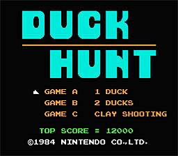 Duck Hunt NES 1988 Menu Screen