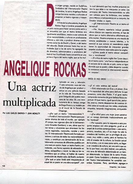 Angelique Rockas Vogue Mexico Interview