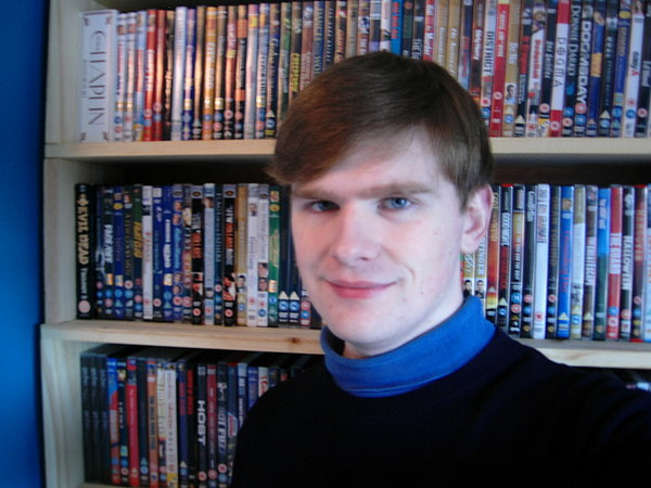 Another updated picture of me and my DVD collection