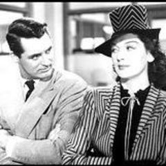 Rosalind Russell with Cary Grant in HIs Girl Friday