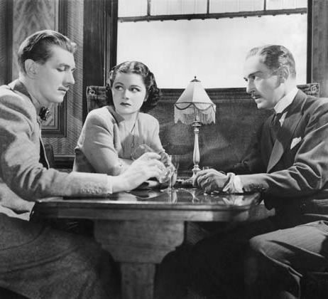 Margaret Lockwood, Michael Redgrave and Paul Lukas