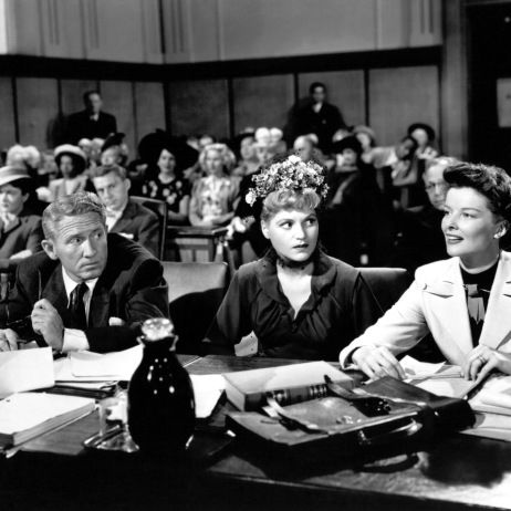 Spencer Tracy,  Judy Holliday and Katharine Hepburn