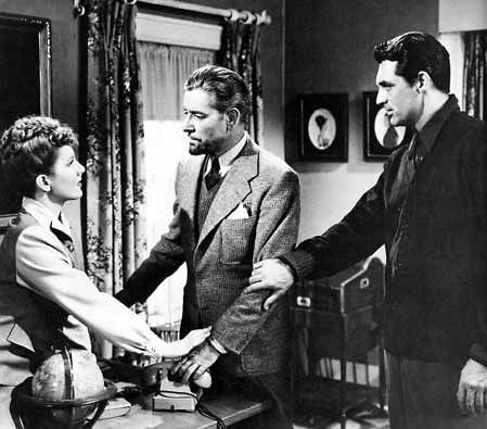 Jean Arhtur, Ronald Colman and Cary Grant