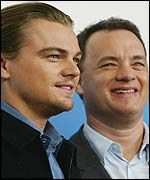 How many movies have Leonardo Dicaprio and Tom Hanks starred in