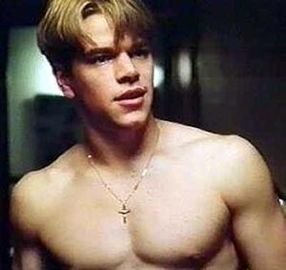 Matt Damon--sans shirt!
