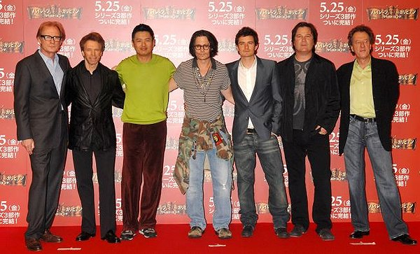 Bill Nighy, Jerry Bruckheimer (Producer), Yun-Fat Chow, Johnny Depp,