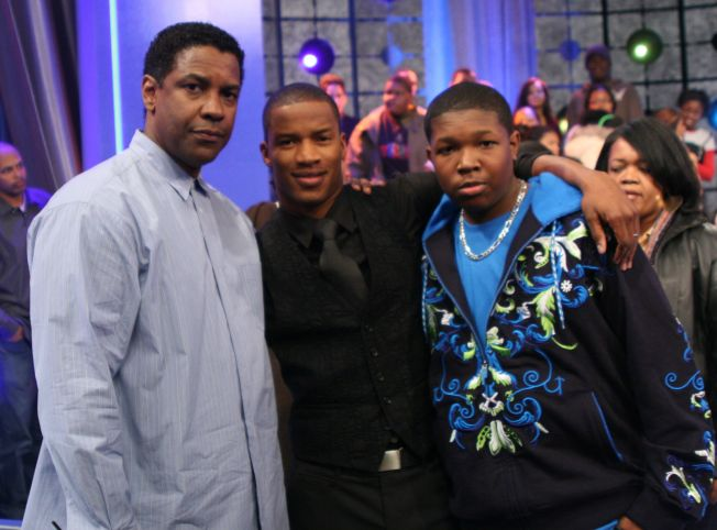 "Mary J. Blige and Denzel Washington Visit BET's ""106 & Park"" - December 19, 2007"
